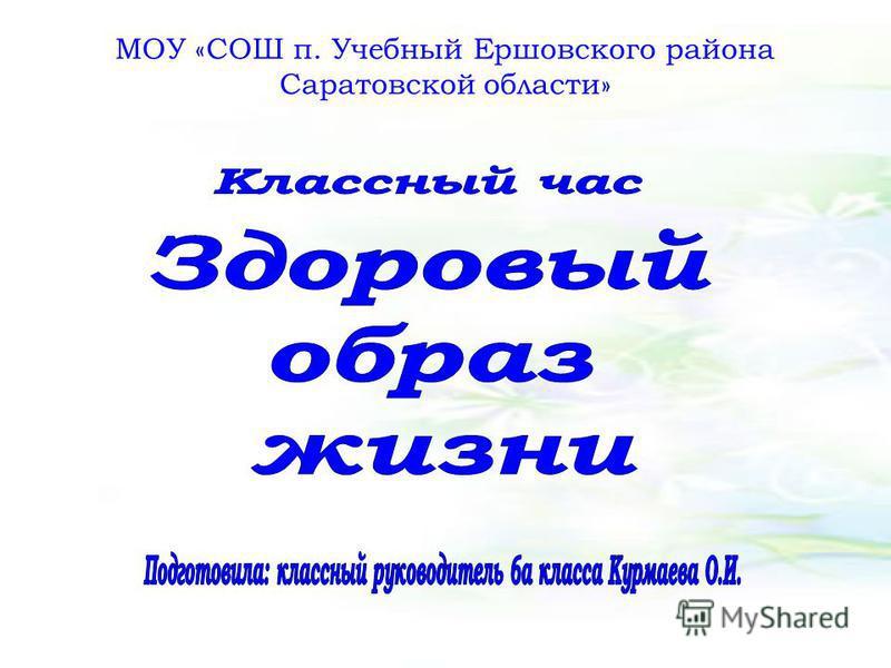 МОУ «СОШ п. Учебный Ершовского района Саратовской области»