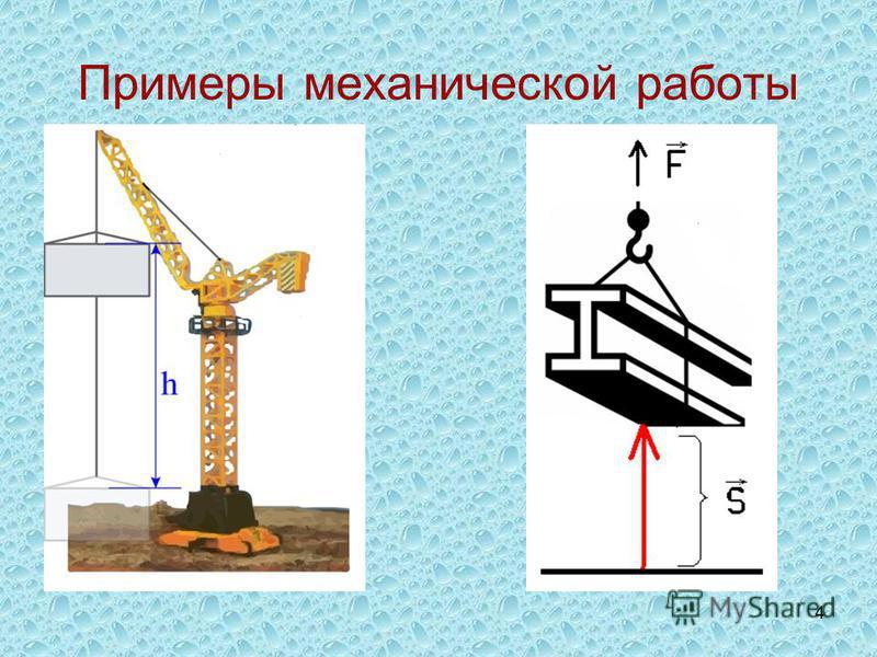4 Примеры механической работы