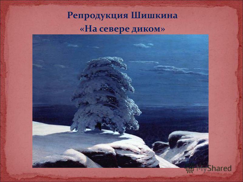 Репродукция Шишкина «На севере диком»