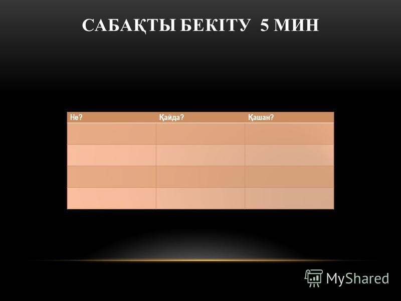 САБАҚТЫ БЕКІТУ 5 МИН
