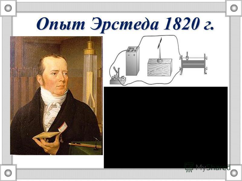 О чем говорит тот факт, что угол отклонения магнитной стрелки изменился? Опыт Эрстеда 1820 г.