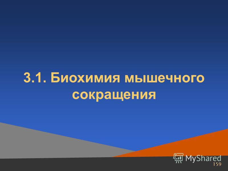 159 3.1. Биохимия мышечного сокращения