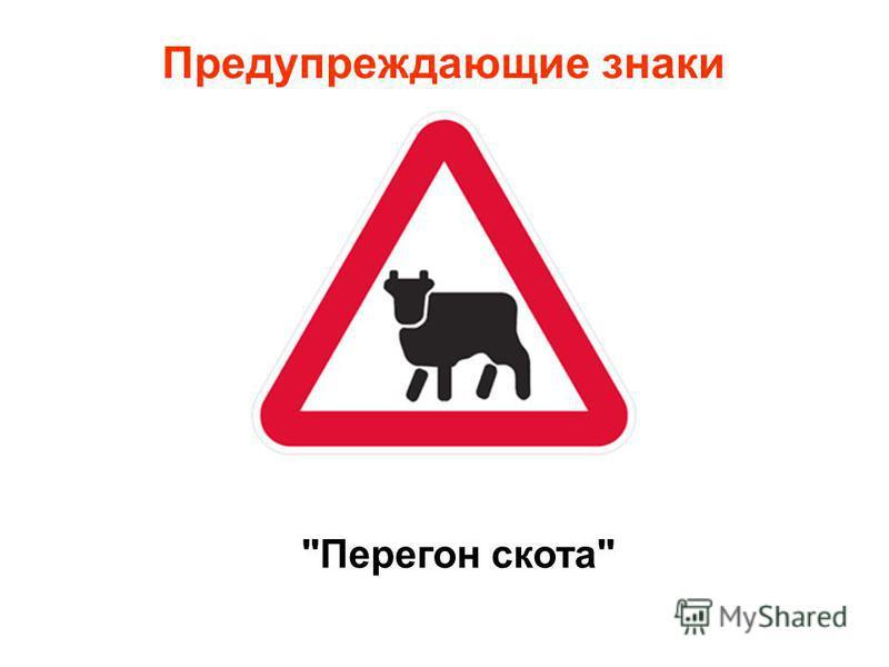 Предупреждающие знаки Перегон скота