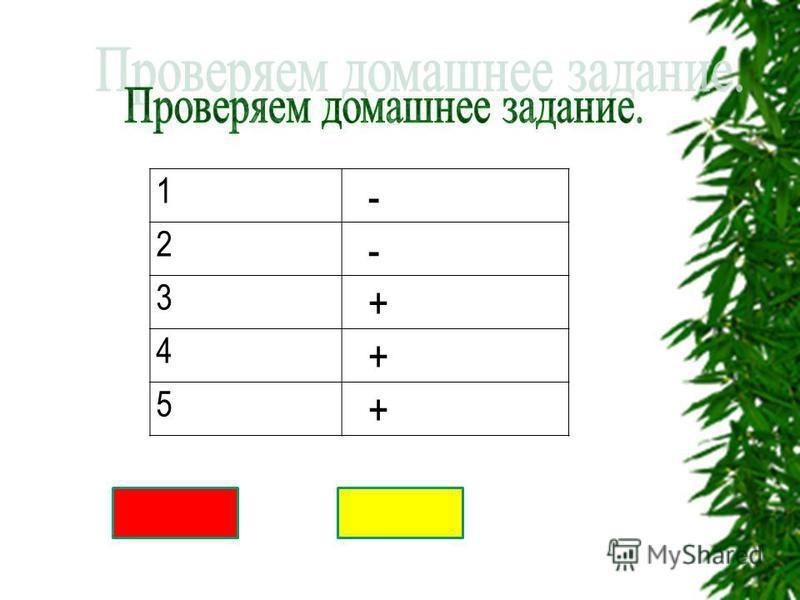 1 - 2 - 3 + 4 + 5 +
