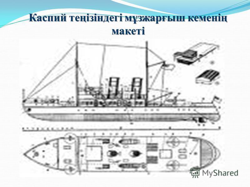 Каспий теңізіндегі мұзжарғыш кеменің макеті
