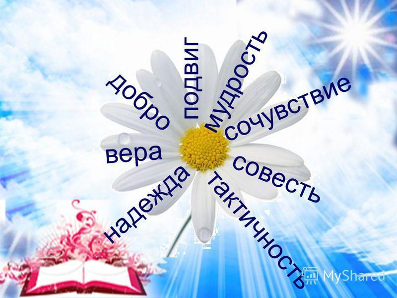 совесть тактичность надежда вера добро подвиг мудрость сочувствие