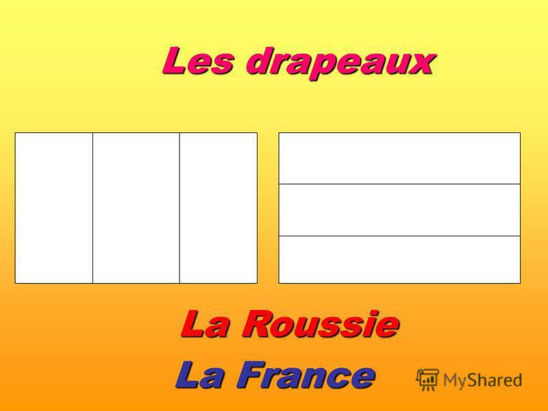 La France La Roussie Les drapeaux