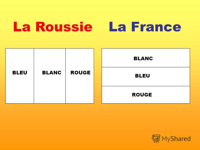 La FranceLa Roussie BLANC BLEU ROUGE BLANCBLEUROUGE
