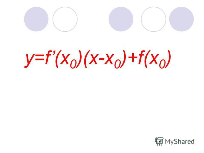 y=f(x 0 )(x-x 0 )+f(x 0 )
