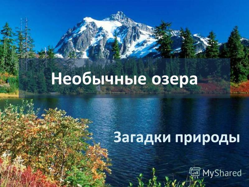 Необычные озера Загадки природы