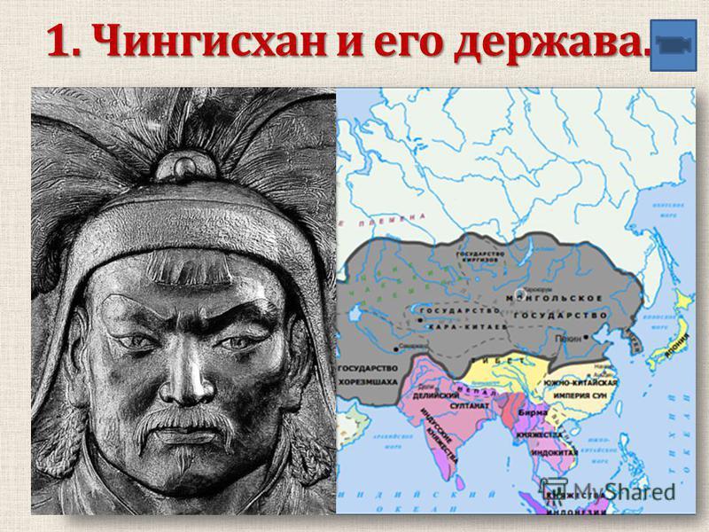 1. Чингисхан и его держава.