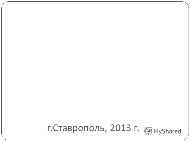 г. Ставрополь, 2013 г.