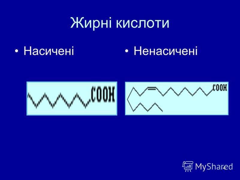4 Жирні кислоти НасиченіНенасичені