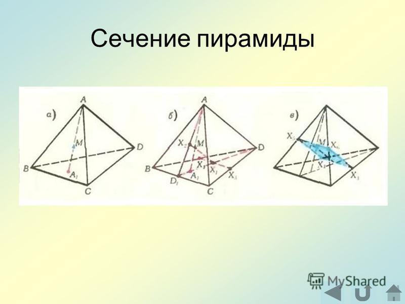 Сечение пирамиды
