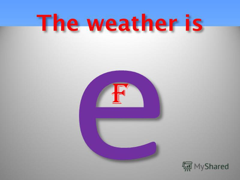 The weather is