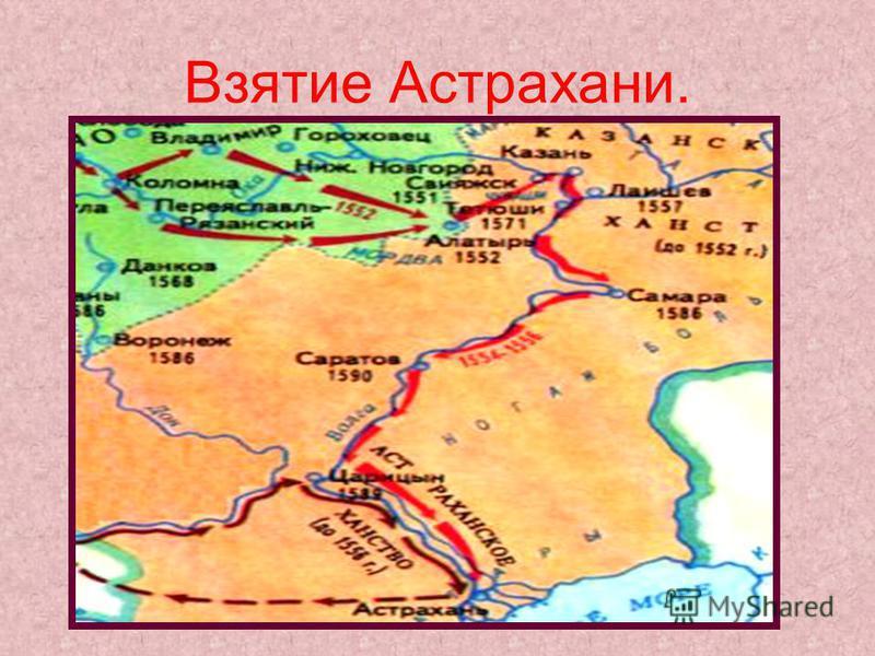 Взятие Астрахани.