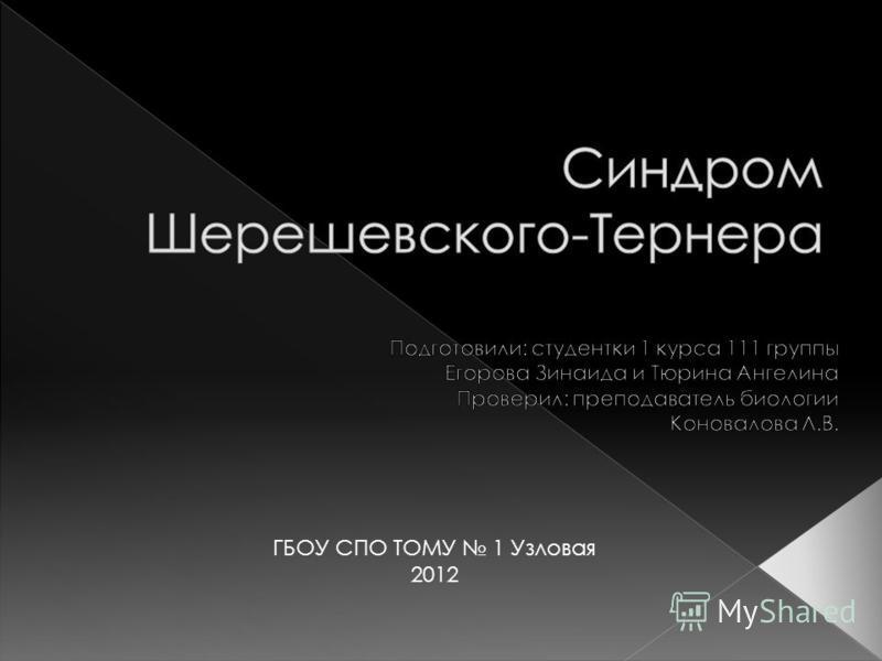 ГБОУ СПО ТОМУ 1 Узловая 2012