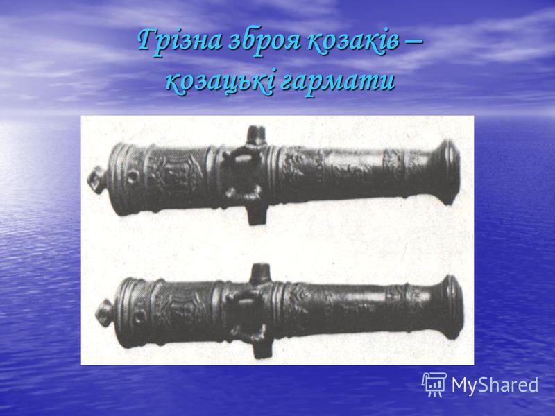 Грізна зброя козаків – козацькі гармати