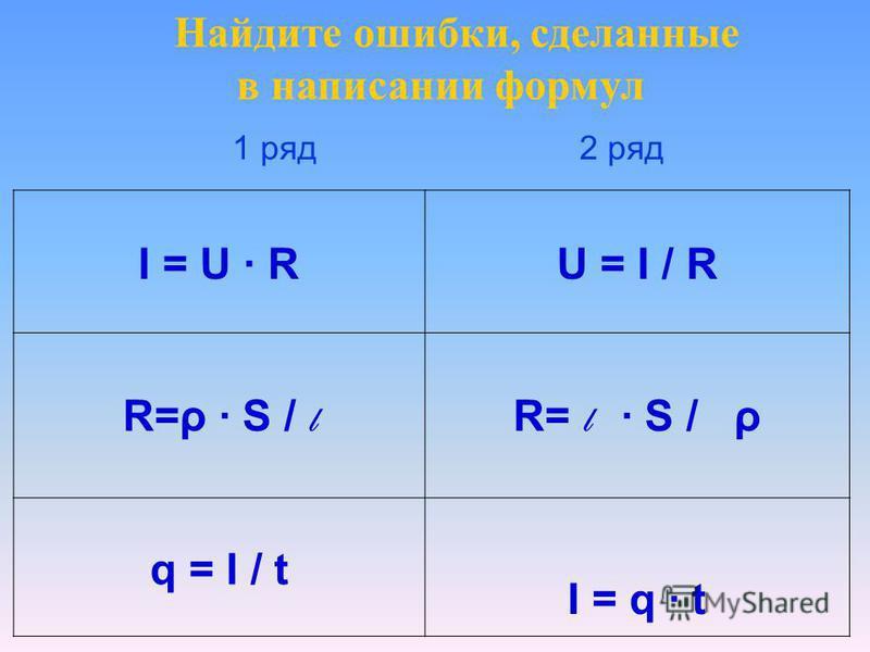 HCl H + + Cl + HNO 3 H - + NO 3 + NaCl Na +2 + Cl - KCl K 3+ + Cl 2- Ca(OH) 2 Ca 2- + OH - NaOH Na + OH - Найдите ошибки, сделанные в написании диссоциации кислот, щелочей, солей 1 ряд 2 ряд