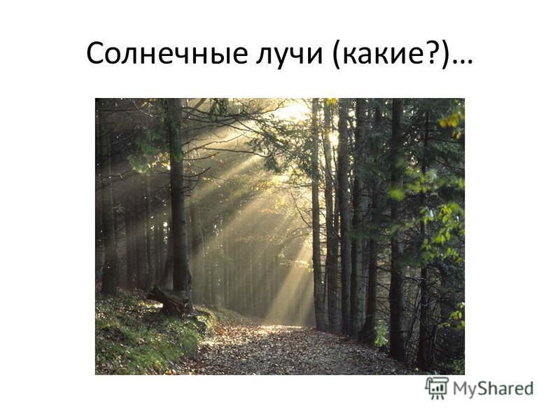 Солнечные лучи (какие?)…