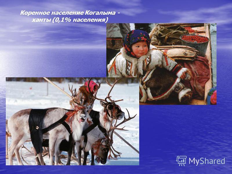 Коренное население Когалыма - ханты (0,1% населения)
