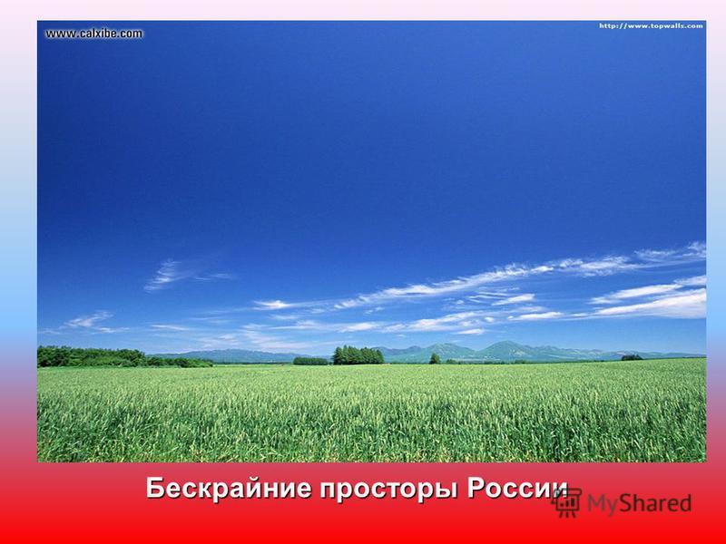 Бескрайние просторы России