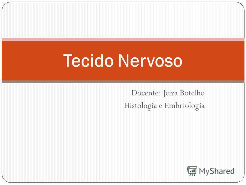 Docente: Jeiza Botelho Histologia e Embriologia Tecido Nervoso
