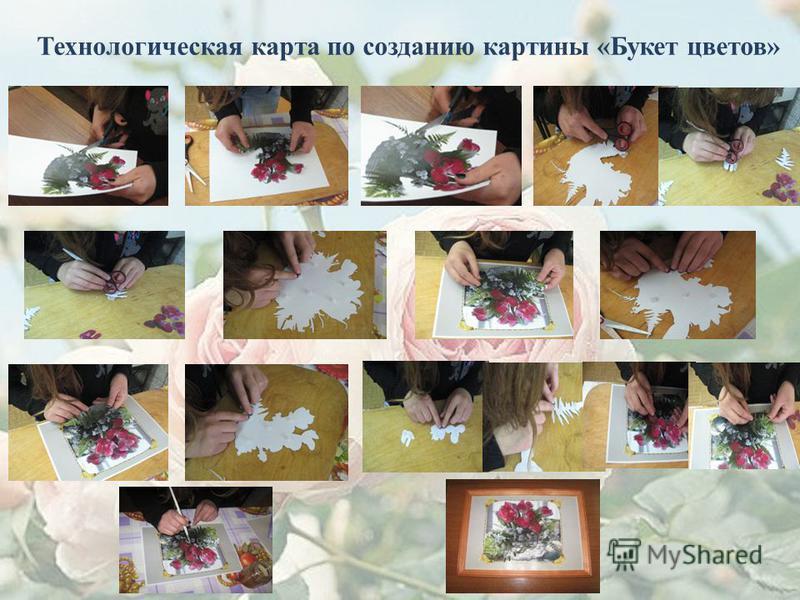 Технологическая карта по созданию картины «Букет цветов»