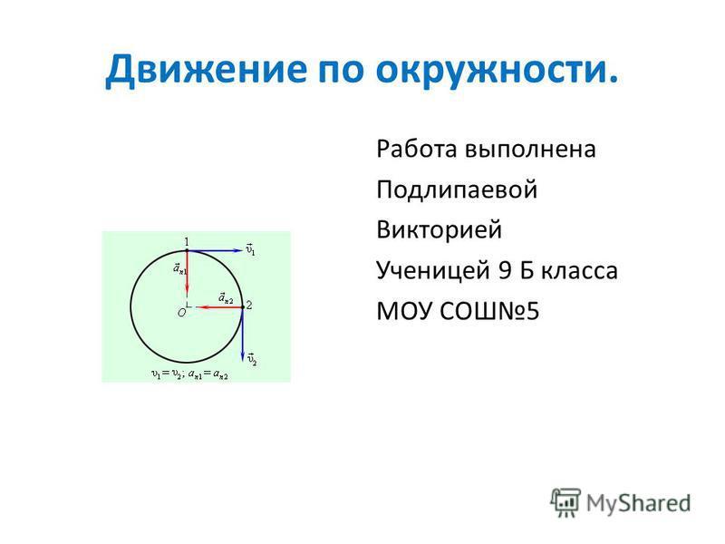 Скачать презентации на тему движение по окружности