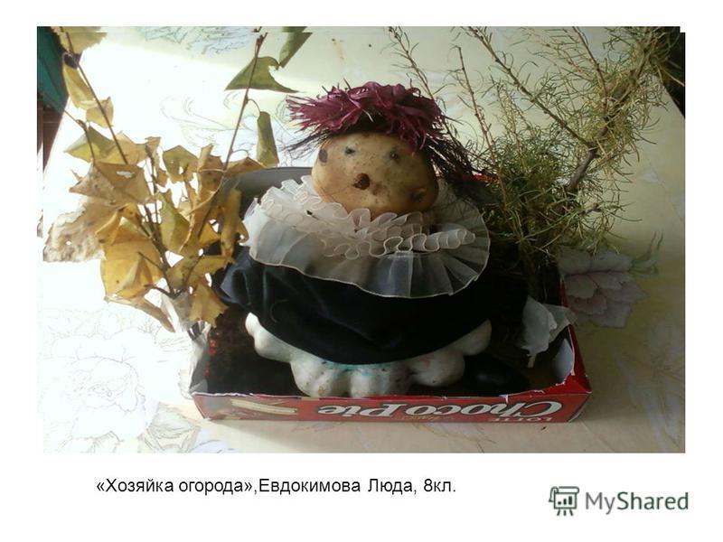 «Хозяйка огорода»,Евдокимова Люда, 8 кл.