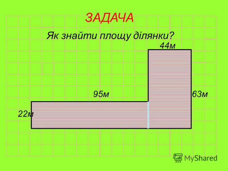 ЗАДАЧА Порівняйте площі прямокутників 42м 25м 75м 83м 33м І група ІІ група ІІІ група 42м 25м 75м 83м 33м