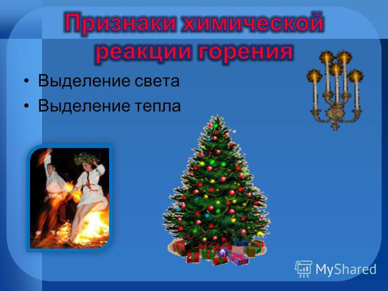 Присутствие кислорода воздуха Нагревание горючего вещества до температуры воспламенения