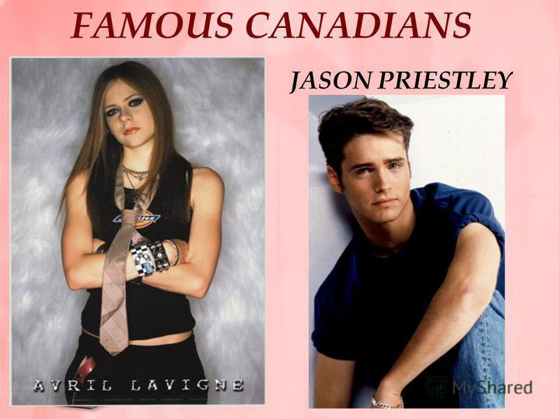 FAMOUS CANADIANS JASON PRIESTLEY