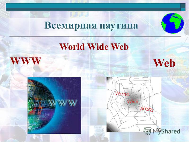 Всемирная паутина World Wide Web WWW Web