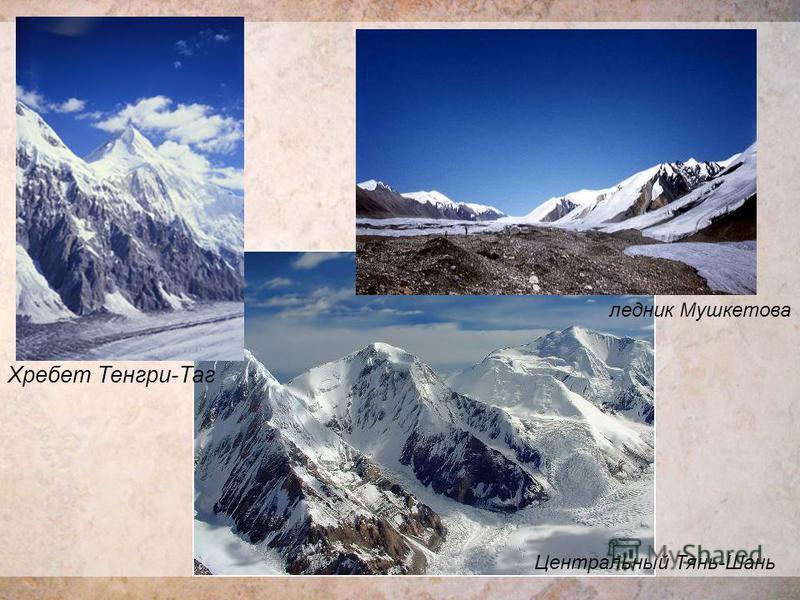 Хребет Тенгри-Таг ледник Мушкетова Центральный Тянь-Шань