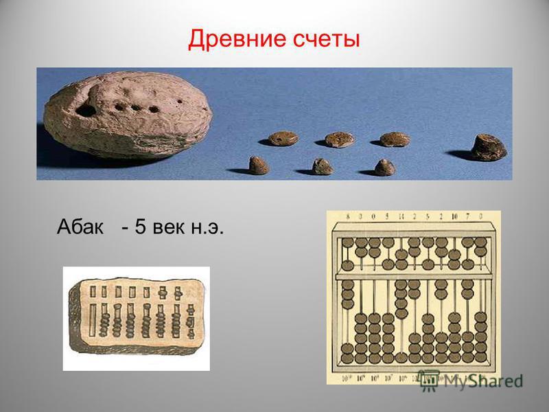 Древние счеты Абак - 5 век н.э.