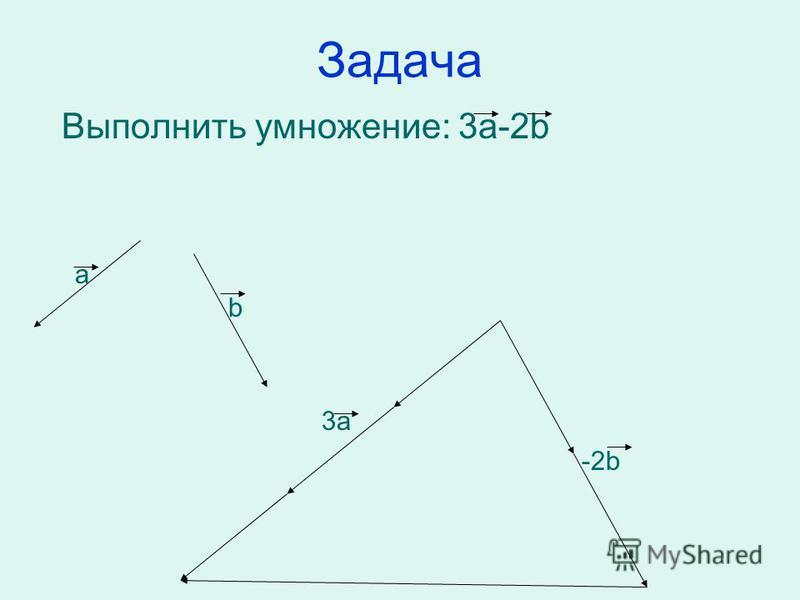 Задача Выполнить умножение: 3 а-2b а b 3 а -2b
