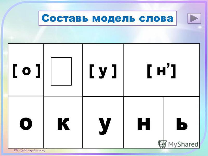 http://goldina-myclas.ucoz.ru / Составь модель слова