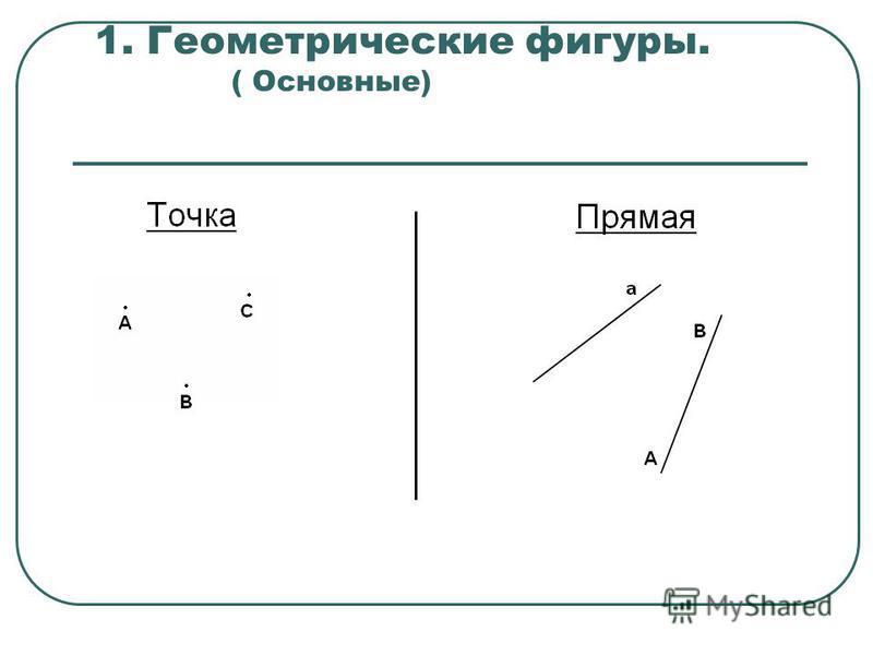 1. Геометрические фигуры. ( Основные)