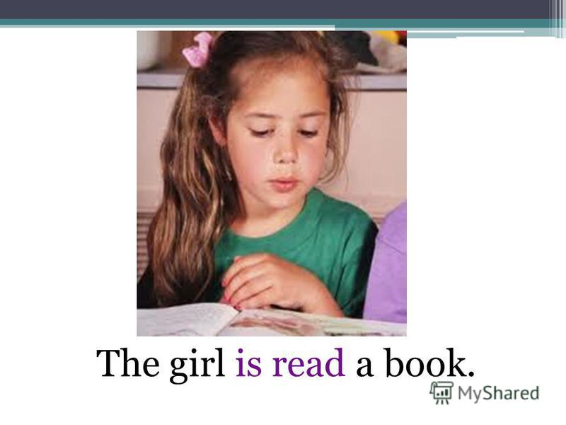 The girl is read a book.