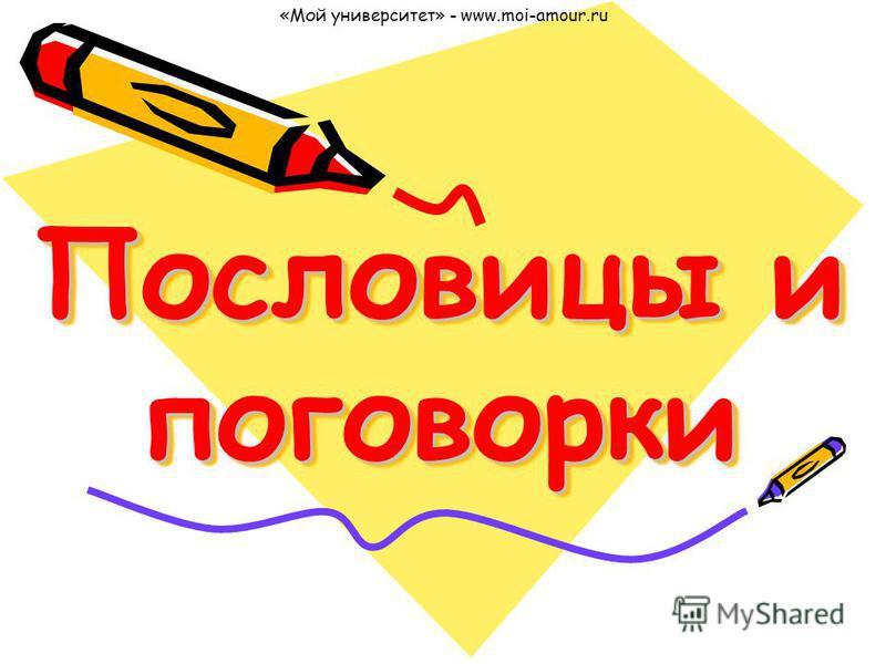 Пословицы и поговорки «Мой университет» - www.moi-amour.ru