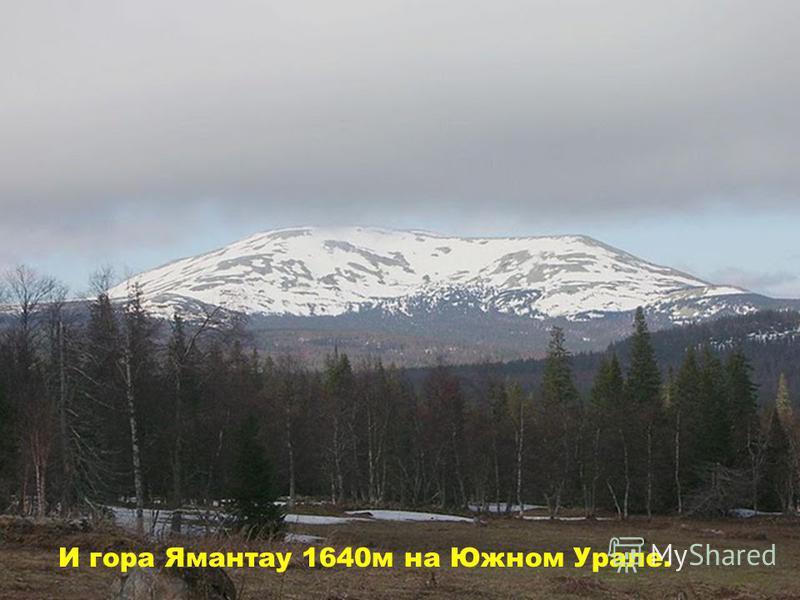 И гора Ямантау 1640 м на Южном Урале.