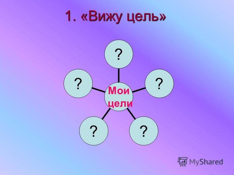 1. «Вижу цель» Мои цели ?????