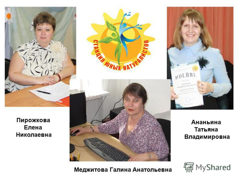 Пирожкова Елена Николаевна Ананьина Татьяна Владимировна Меджитова Галина Анатольевна