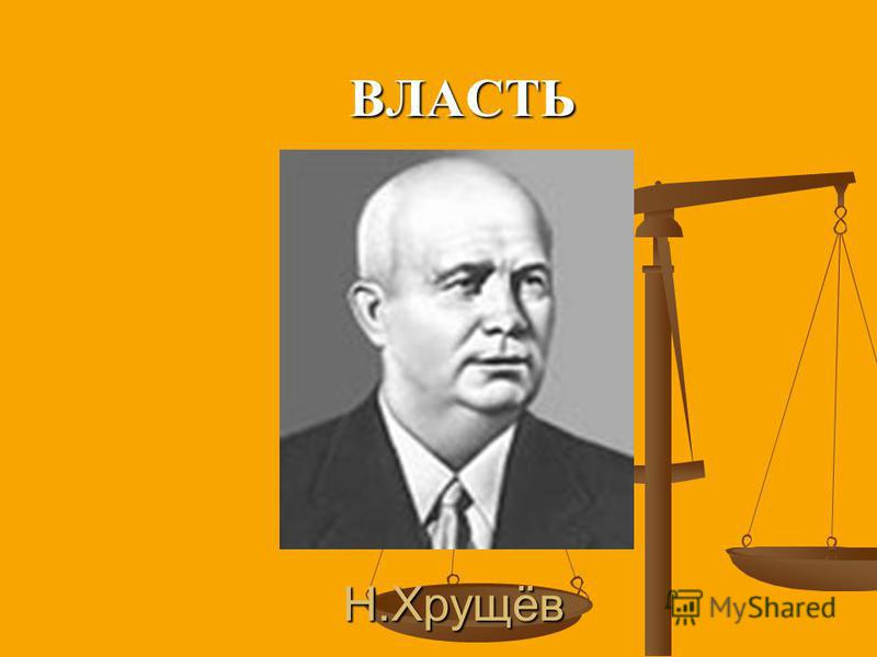 Н.Хрущёв ВЛАСТЬ