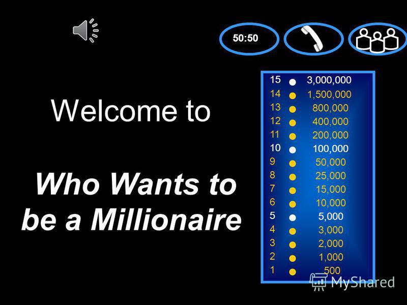 Who wants to be a millionaire? Сделала презентацию-игру преподаватель МОУ школы 4 г. Воронежа Мухопад Виталина Анатольевна