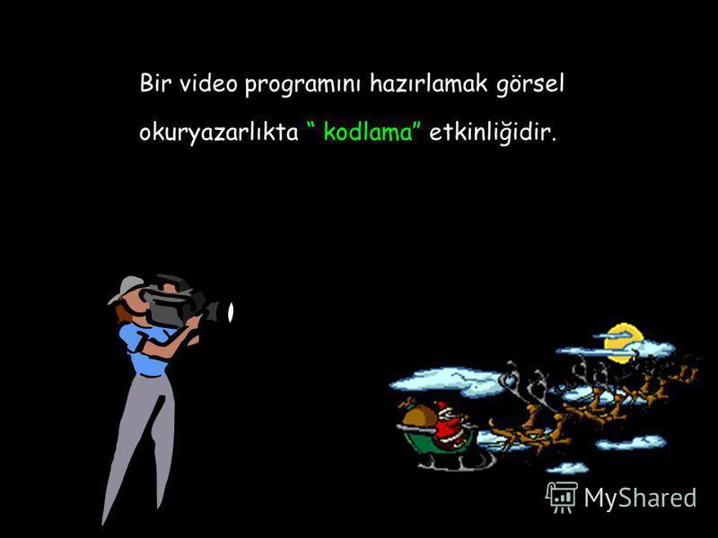 Bir video programını hazırlamak görsel okuryazarlıkta kodlama etkinliğidir.