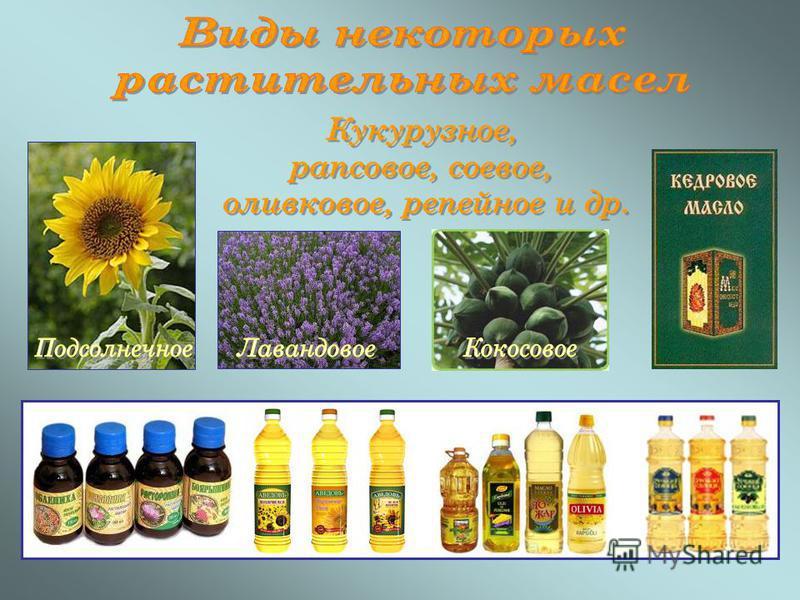 В потреблении растительных масел преобладает подсолнечное масло, которое используется населением как один из основных продуктов питания, а так же выступает в качестве сырья для получения маргариновой продукции Масложировая промышленность также произв