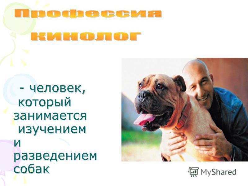 - человек, который занимается изучением и разведением собак - человек, который занимается изучением и разведением собак