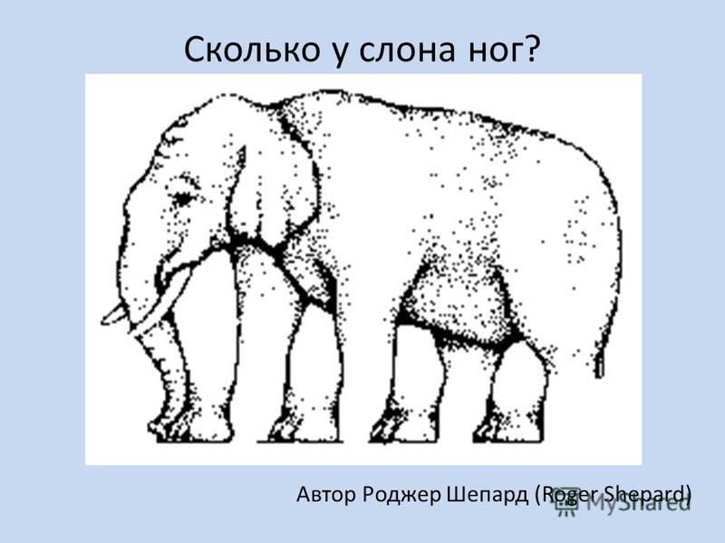 Сколько у слона ног? Автор Роджер Шепард (Roger Shepard)